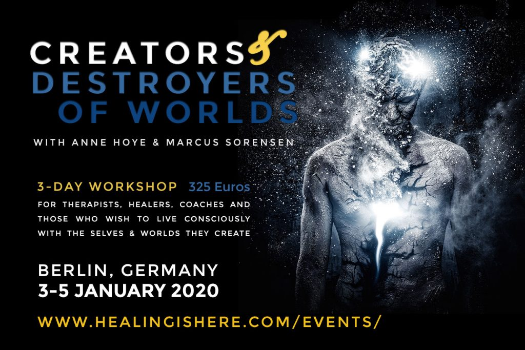 Creators & Destroyers of Worlds workshop flyer